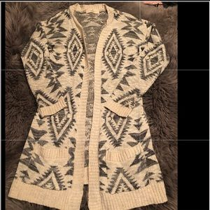 Aztec Charlotte Russe sweater small cream black